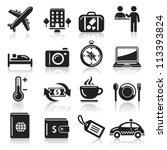 travel icons set1. vector eps 10 | Shutterstock .eps vector #113393824