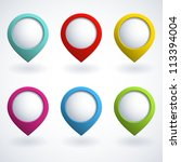 set of colorful 3d buttons.... | Shutterstock .eps vector #113394004