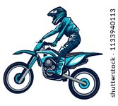 motocross rider ride the... | Shutterstock .eps vector #1133940113