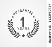 1 year guarantee icon in black... | Shutterstock .eps vector #1133950739