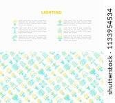 lighting concept with thin line ... | Shutterstock .eps vector #1133954534