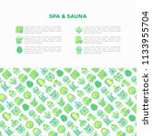 spa   sauna concept with thin... | Shutterstock .eps vector #1133955704