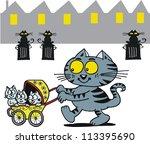 Vector Cartoon Of Happy Cat...