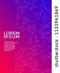 trendy cover page layout.... | Shutterstock .eps vector #1133961869