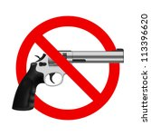 symbol no gun. illustration on...