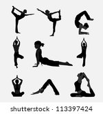yoga exercise | Shutterstock .eps vector #113397424