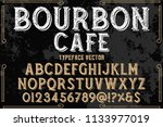 hand drawn typeface set brush... | Shutterstock .eps vector #1133977019