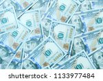 dollar bills or banknotes for... | Shutterstock . vector #1133977484