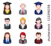 school people icons.... | Shutterstock .eps vector #113398258
