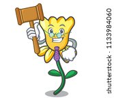 Judge Daffodil Flower Mascot...