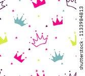 hand drawn seamless pattern... | Shutterstock .eps vector #1133984813