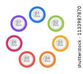circle infographic design... | Shutterstock .eps vector #1133987870
