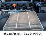 change used air filter of car.   Shutterstock . vector #1133990909