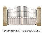 Wrought Iron Gate And Stone...