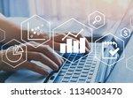 business intelligence bi... | Shutterstock . vector #1134003470