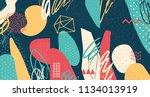 creative doodle art header with ...   Shutterstock .eps vector #1134013919