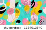 creative doodle art header with ... | Shutterstock .eps vector #1134013940