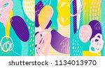 creative doodle art header with ...   Shutterstock .eps vector #1134013970