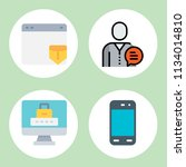 simple 4 icon set of mobile... | Shutterstock .eps vector #1134014810