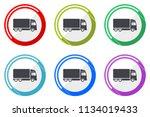 delivery web vector icons  set... | Shutterstock .eps vector #1134019433