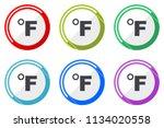 fahrenheit web vector icons ... | Shutterstock .eps vector #1134020558