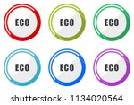 eco web vector icons  set of... | Shutterstock .eps vector #1134020564