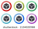 box web vector icons  set of... | Shutterstock .eps vector #1134020588