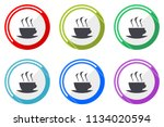 espresso web vector icons  set... | Shutterstock .eps vector #1134020594