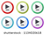 video web vector icons  set of... | Shutterstock .eps vector #1134020618