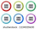 gmo free web vector icons  set... | Shutterstock .eps vector #1134020630