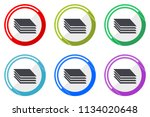 layers web vector icons  set of ... | Shutterstock .eps vector #1134020648