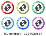 rotation web vector icons  set... | Shutterstock .eps vector #1134020684