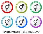 sex web vector icons  set of... | Shutterstock .eps vector #1134020690