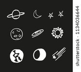 galactic objects. set of... | Shutterstock .eps vector #1134036644