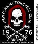 skull t shirt graphic design | Shutterstock . vector #1134038369