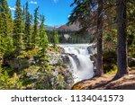 athabasca falls in jasper...   Shutterstock . vector #1134041573