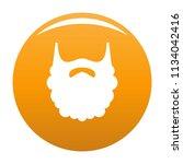 fluffy beard icon. simple... | Shutterstock .eps vector #1134042416