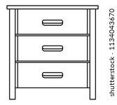 drawer icon. outline... | Shutterstock .eps vector #1134043670
