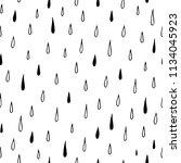 hand drawn seamless pattern of... | Shutterstock .eps vector #1134045923