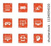 leisure activity icons set.... | Shutterstock .eps vector #1134054020