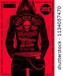 hard rock festival poster.... | Shutterstock .eps vector #1134057470