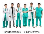 asian male and female medical...   Shutterstock . vector #113405998