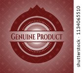 genuine product red emblem.... | Shutterstock .eps vector #1134065510
