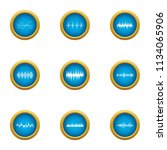 pulse icons set. flat set of 9... | Shutterstock .eps vector #1134065906