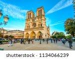 paris  france   september 21... | Shutterstock . vector #1134066239