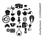 edible icons set. simple set of ... | Shutterstock .eps vector #1134066809