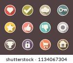 flat design social media icons | Shutterstock .eps vector #1134067304