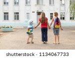 children go back to school.... | Shutterstock . vector #1134067733