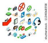 advice icons set. isometric set ... | Shutterstock .eps vector #1134068558