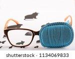 green blue colored ortopad eye ... | Shutterstock . vector #1134069833